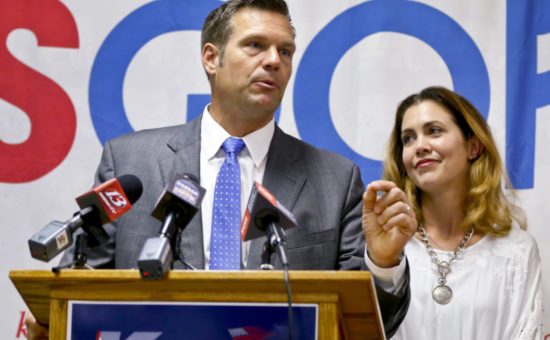 Kansas independent candidate wants to lure votes from Kobach