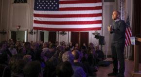 The Latest: Booker speaks at Democrat victory celebration