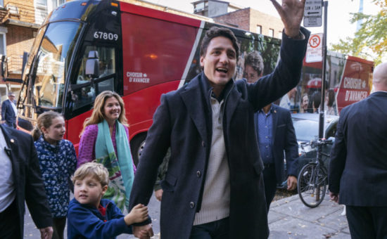 Canada's Trudeau appears set to win 2nd term